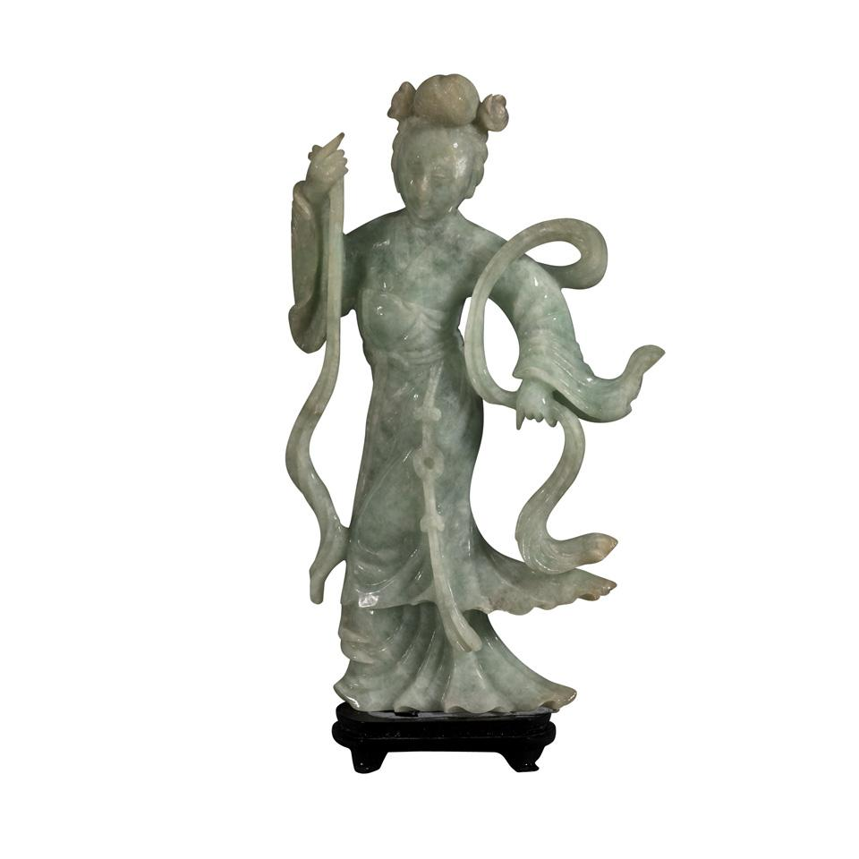 Jadeite Carving of a Lady