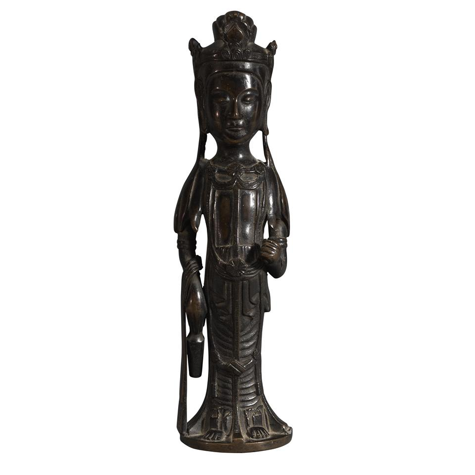 Bronze Hakuho-style Bronze Kannon, Japan, 19th Century or Earlier