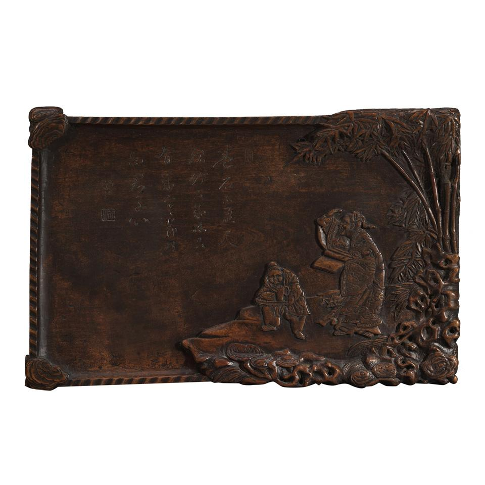 Wood Relief Carved Panel, 19th Century