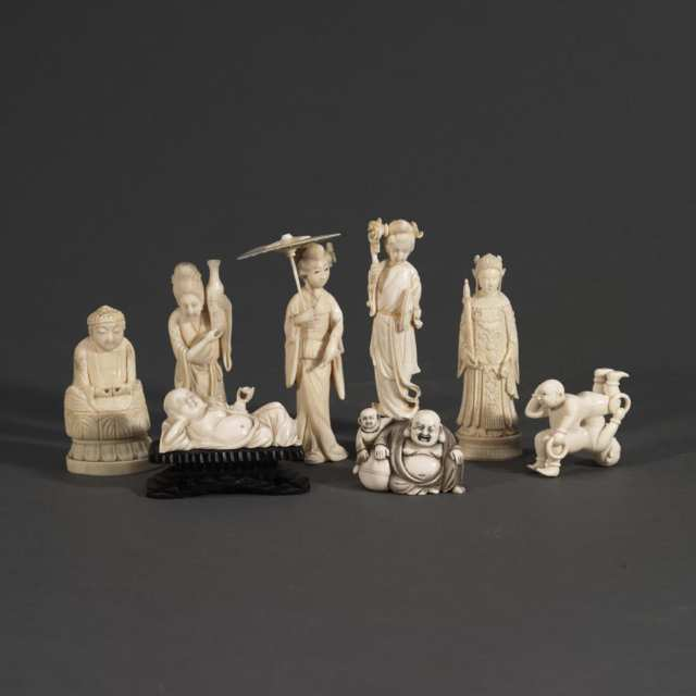 Eight Miscellaneous Ivory Carvings