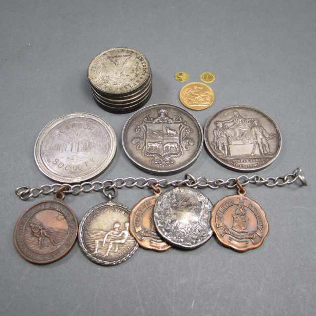 Small Quantity Of Coins And Medallions