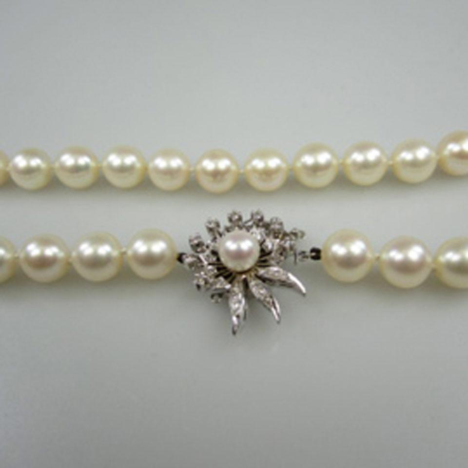 Birk's Single Strand Culture Pearl Necklace