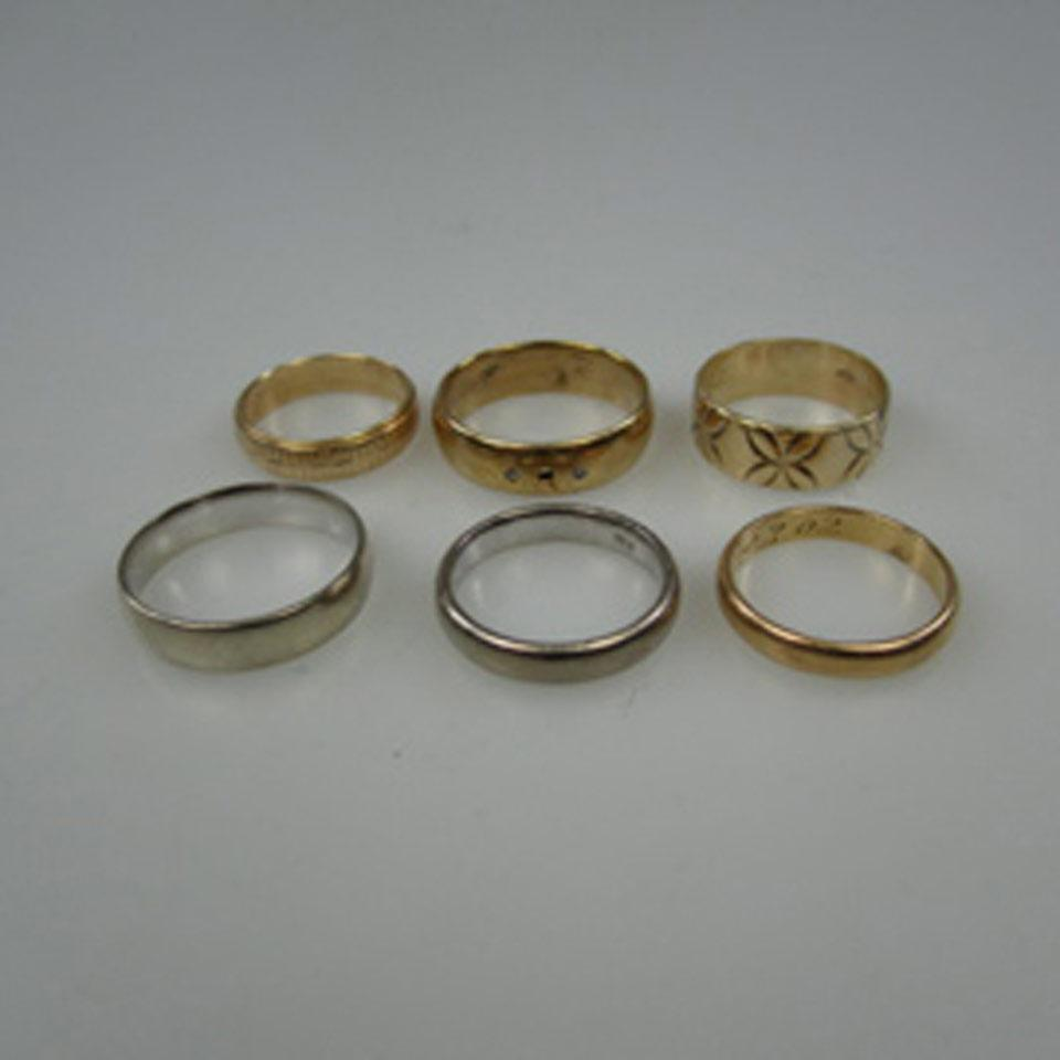 1 x 10k, 2 x 14k & 2 x 18k Gold Bands