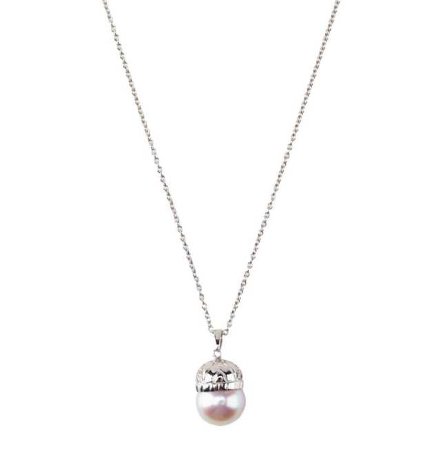 18k White Gold Chain And Pendant