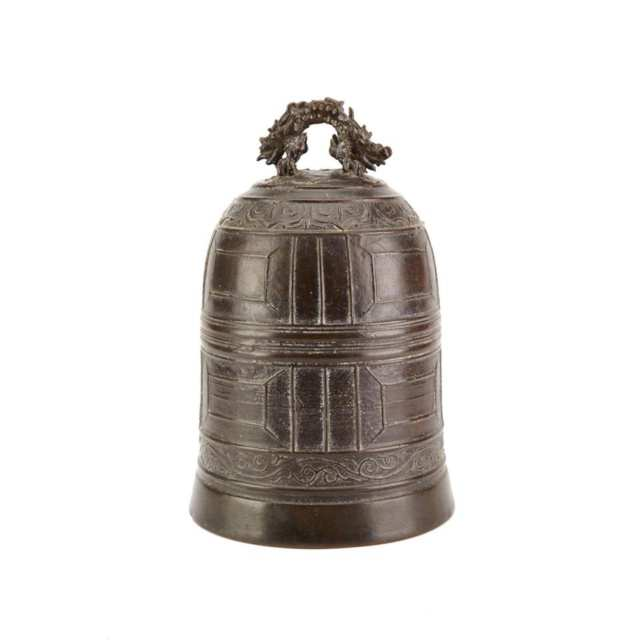 Bronze Temple Bell, 19th Century