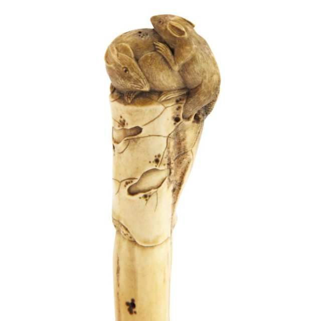 Stag Antler Parasol Handle, 19th Century