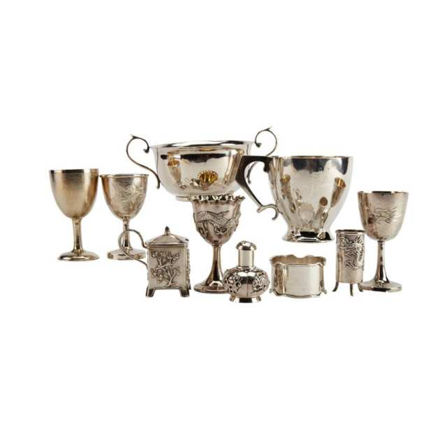 Ten Export Silver Pieces, Early 20th Century