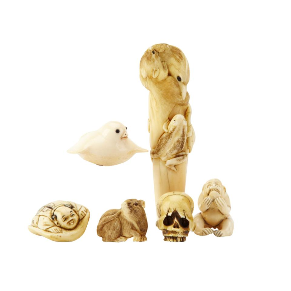 Five Ivory Carved Netsukes