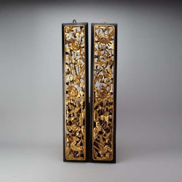 Pair of Wood Gilt Panels