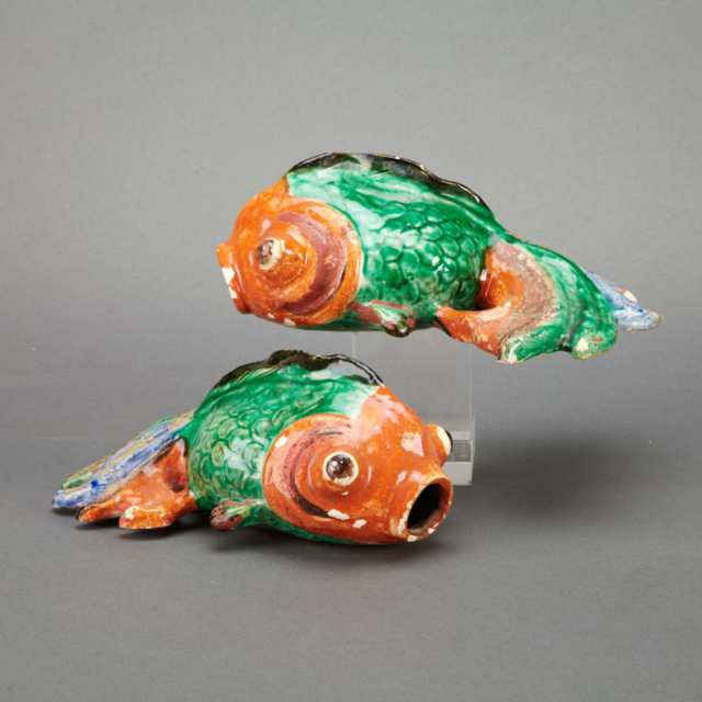 Pair of Export-Style Goldfish, 19th Century