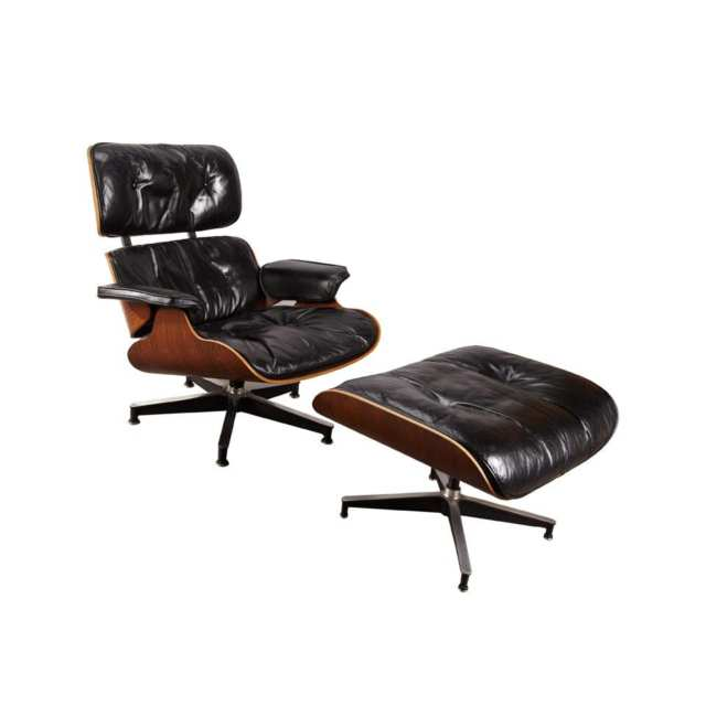 Charles Eames Lounge Chair and Ottoman,