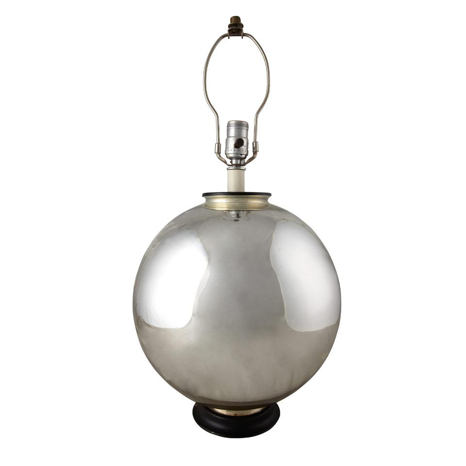 Mercury Glass Witches Ball Table Lamp,