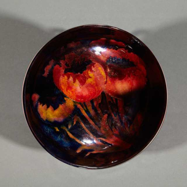 Moorcroft Flambé Poppy Bowl, c.1925