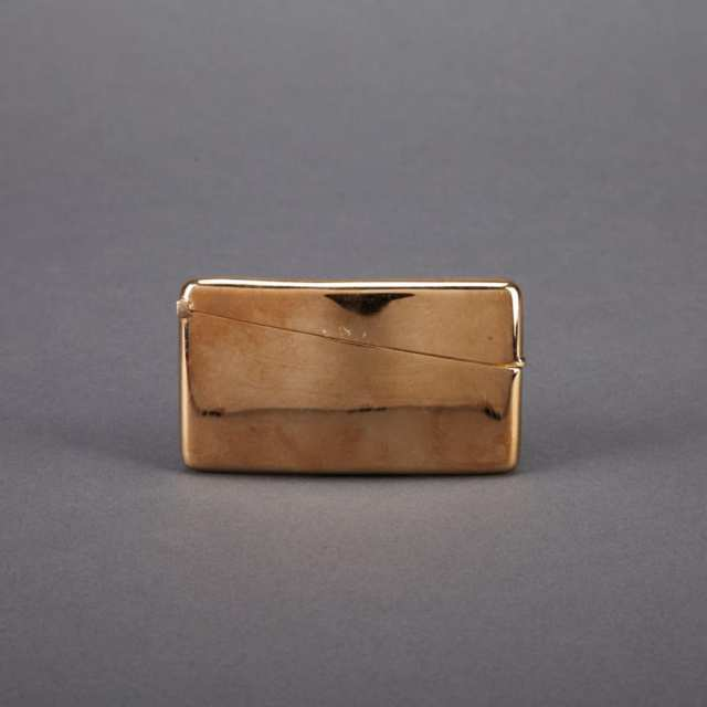 English Gold Curved Oblong Card Case, S. Blanckensee & Sons, Birmingham, 1920