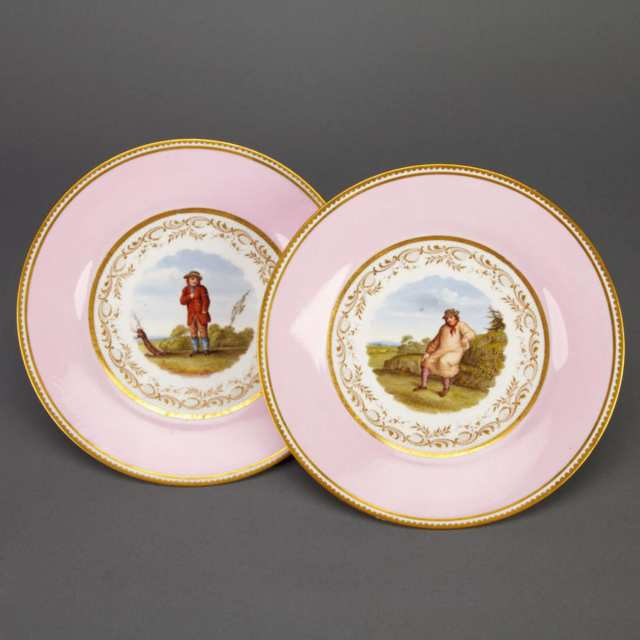Pair of Flight, Barr & Barr Worcester Plates, c.1810-13