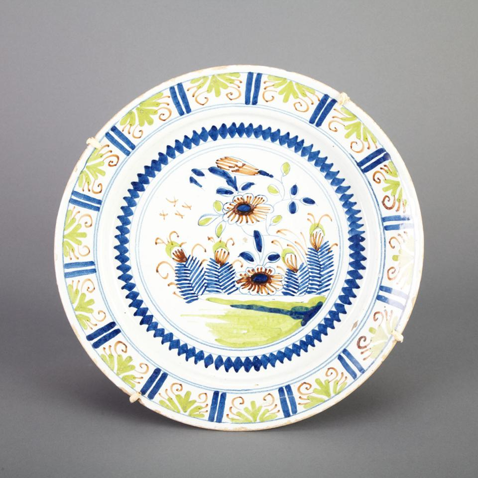 Delft Polychrome Charger, 18th century