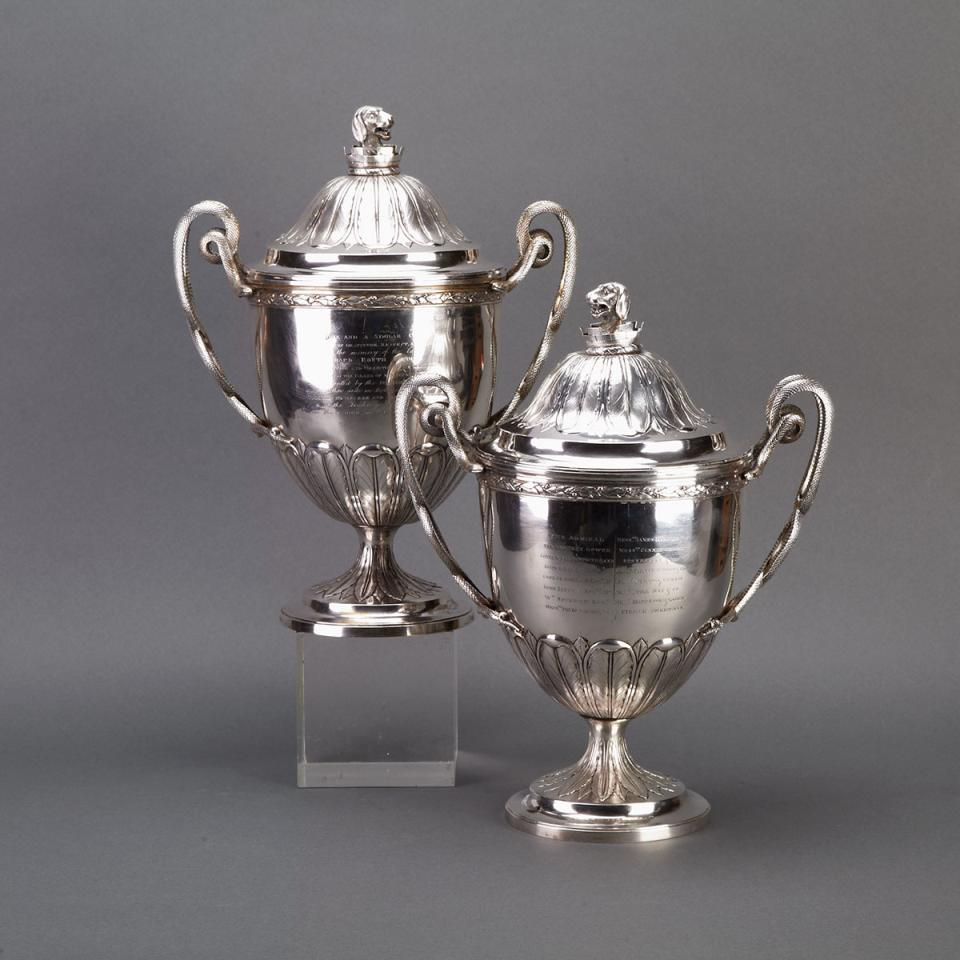 The Routh Cups Pair of George III Silver Covered Cups, Joseph Hardy, London, 1806