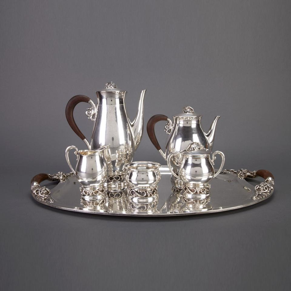 Mexican Silver Tea and Coffee Service, Codan and Avanti, Mexico City, mid-20th century