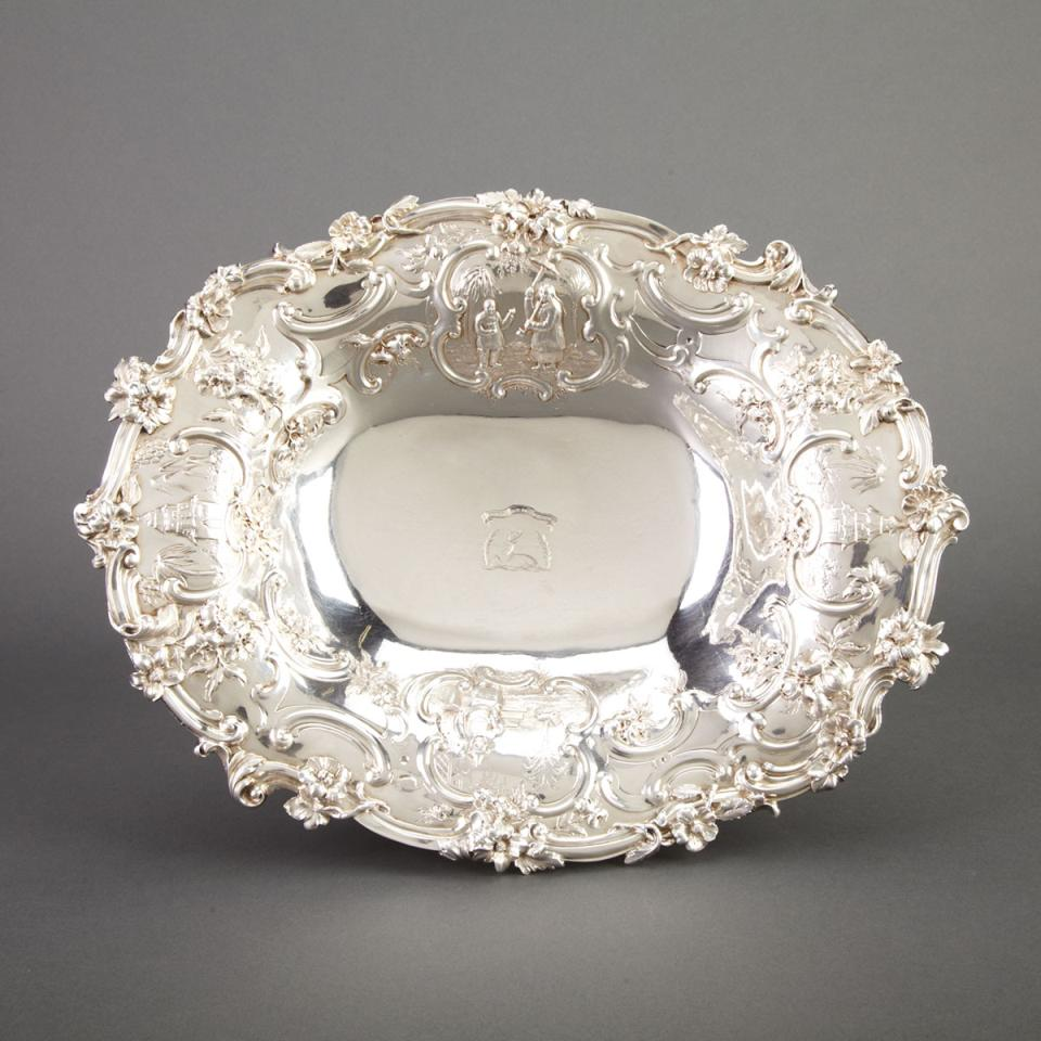 Victorian Silver Oval Footed Comport, John S. Hunt, London, 1849