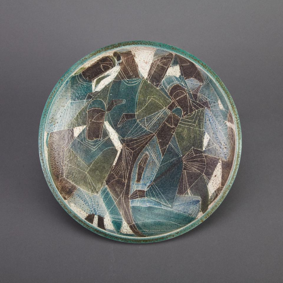 Brooklin Pottery Shallow Bowl, Theo and Susan Harlander,  mid-20th century