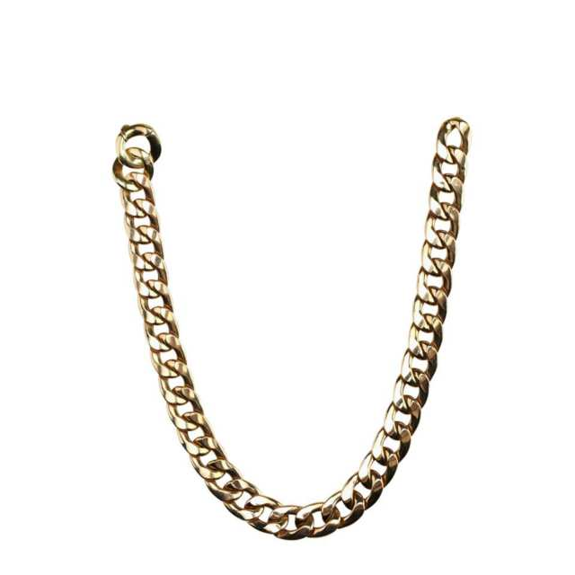 Italian 14k Yellow Gold Curb Link Chain Necklace