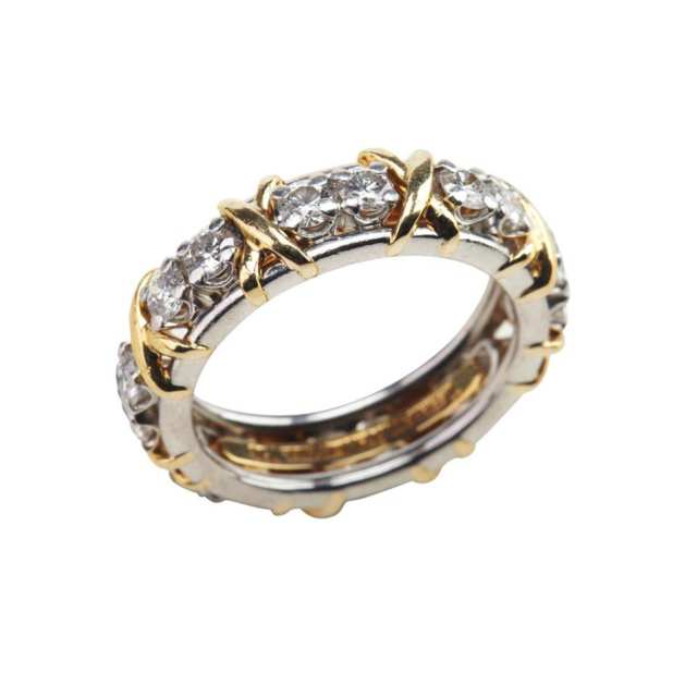 Tiffany & Co. Schlumberger 18k Yellow Gold And Platinum Eternity Band