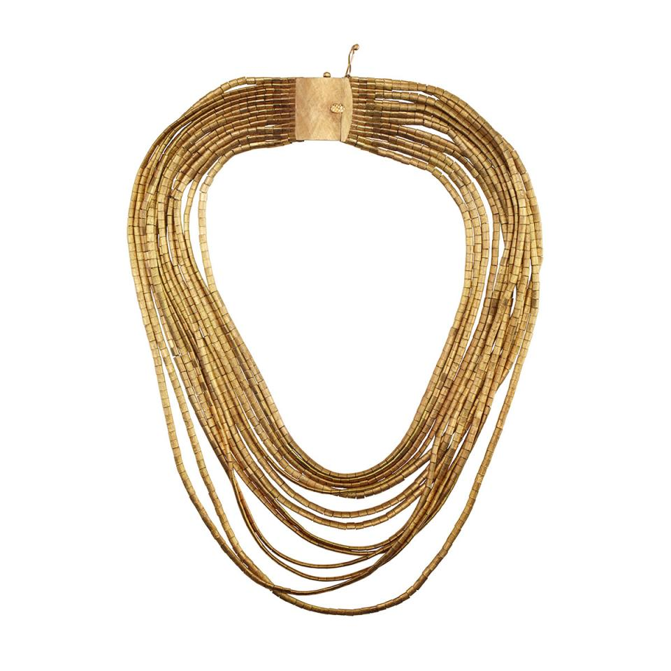 18k Yellow Gold Thirteen Strand Necklace
