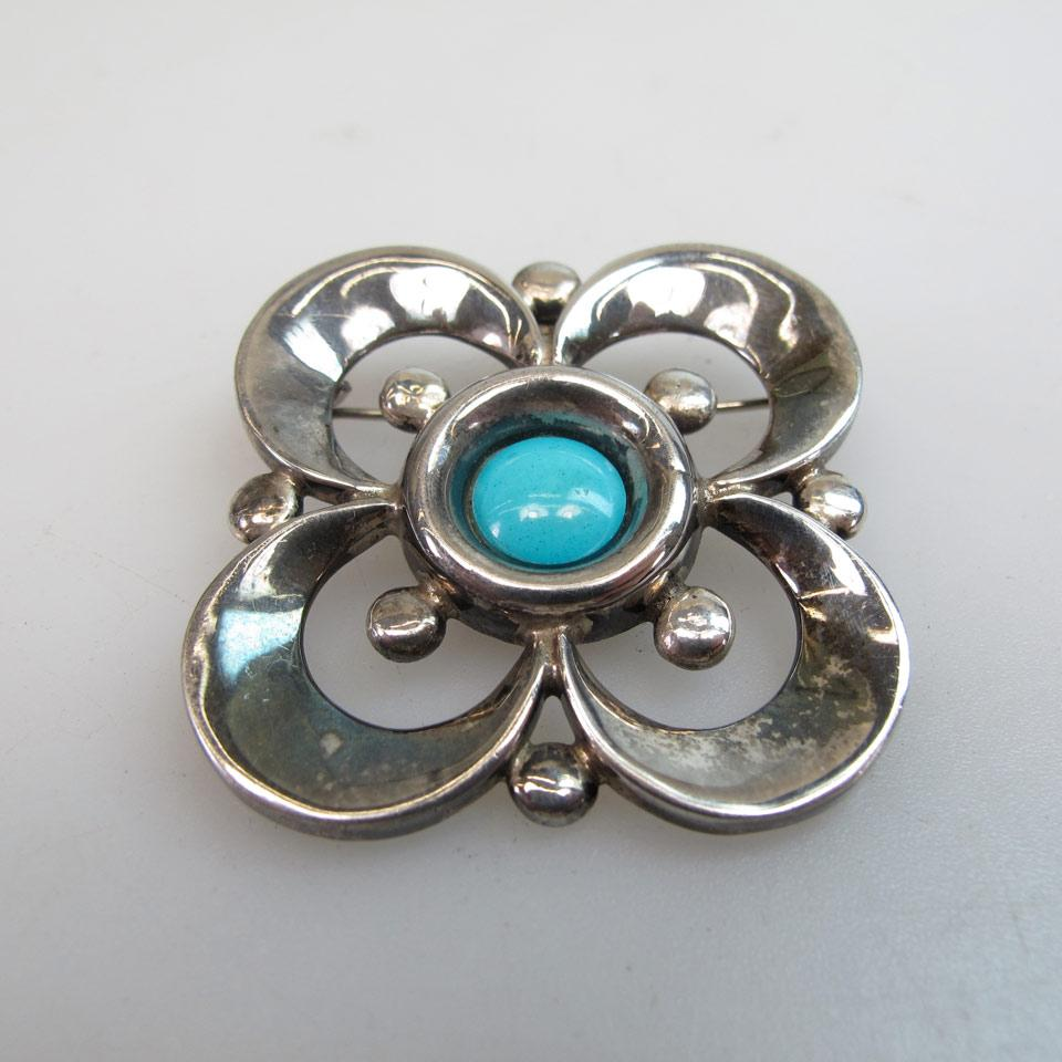 Mexican Sterling Silver Brooch/Pendant