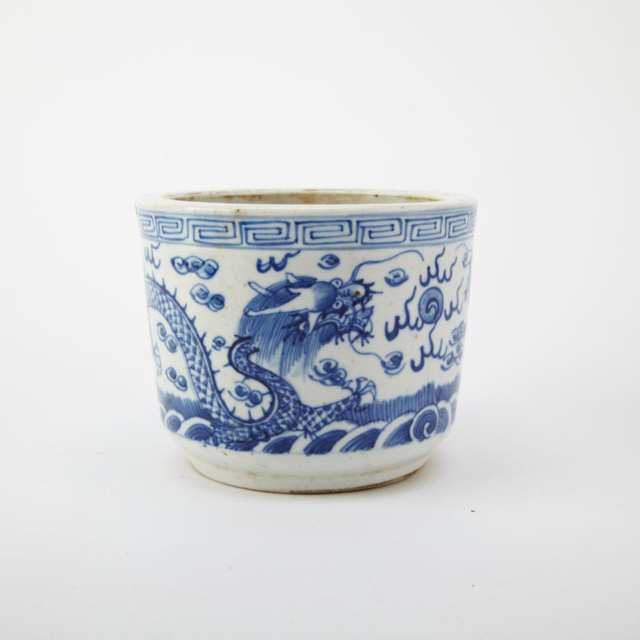 Pair of Blue and White Porcelain Censers