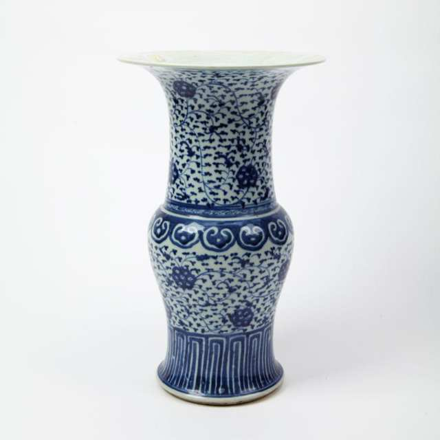 Blue and White 'Yenyen' Vase