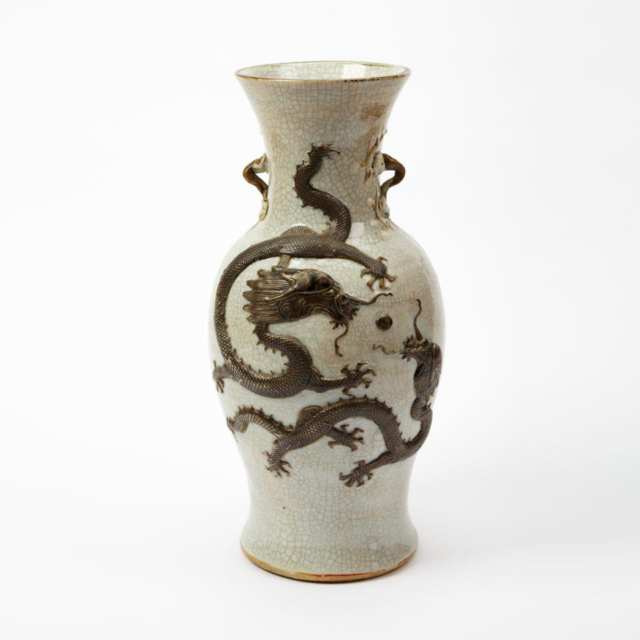 Slip Decorated Dragon Vase