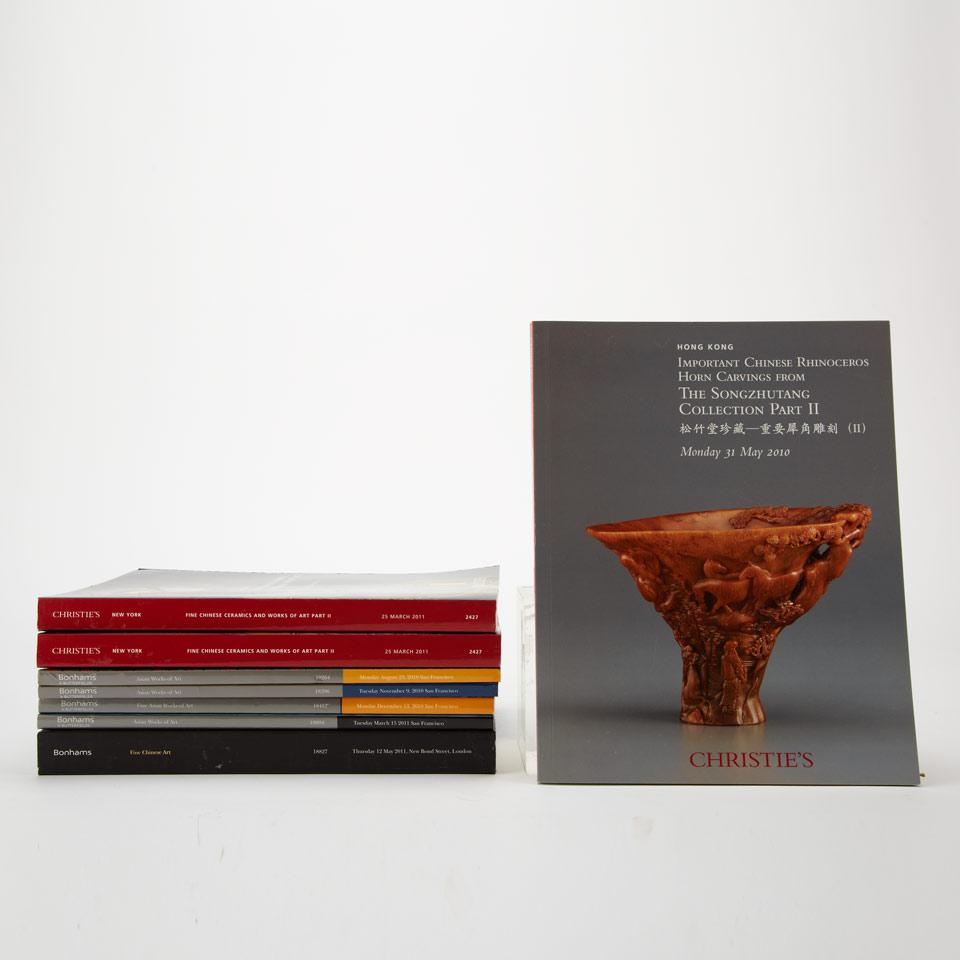 Group of 18 Chinese Art Auction Catalogues from Christie's New York, London, and Hong Kong together with Bonhams and Butterfield San Francisco and Bonhams London (2008-2011)