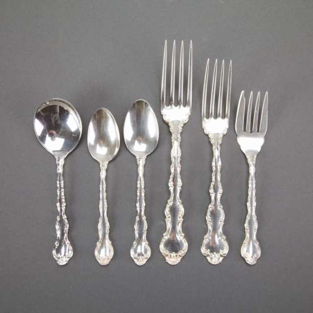 Canadian Silver 'Louis XV' Pattern Flatware Service, Henry Birks & Sons, Montreal, Que., 20th century