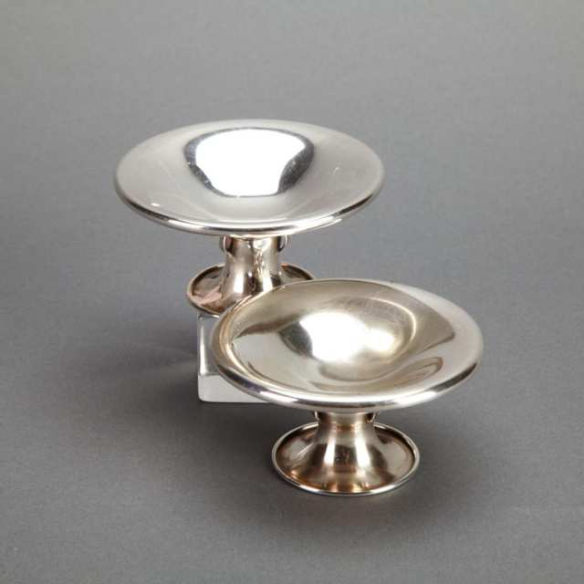 Pair of Canadian Silver Candlesticks, Carl Poul Petersen, Montreal, Que., mid-20th century