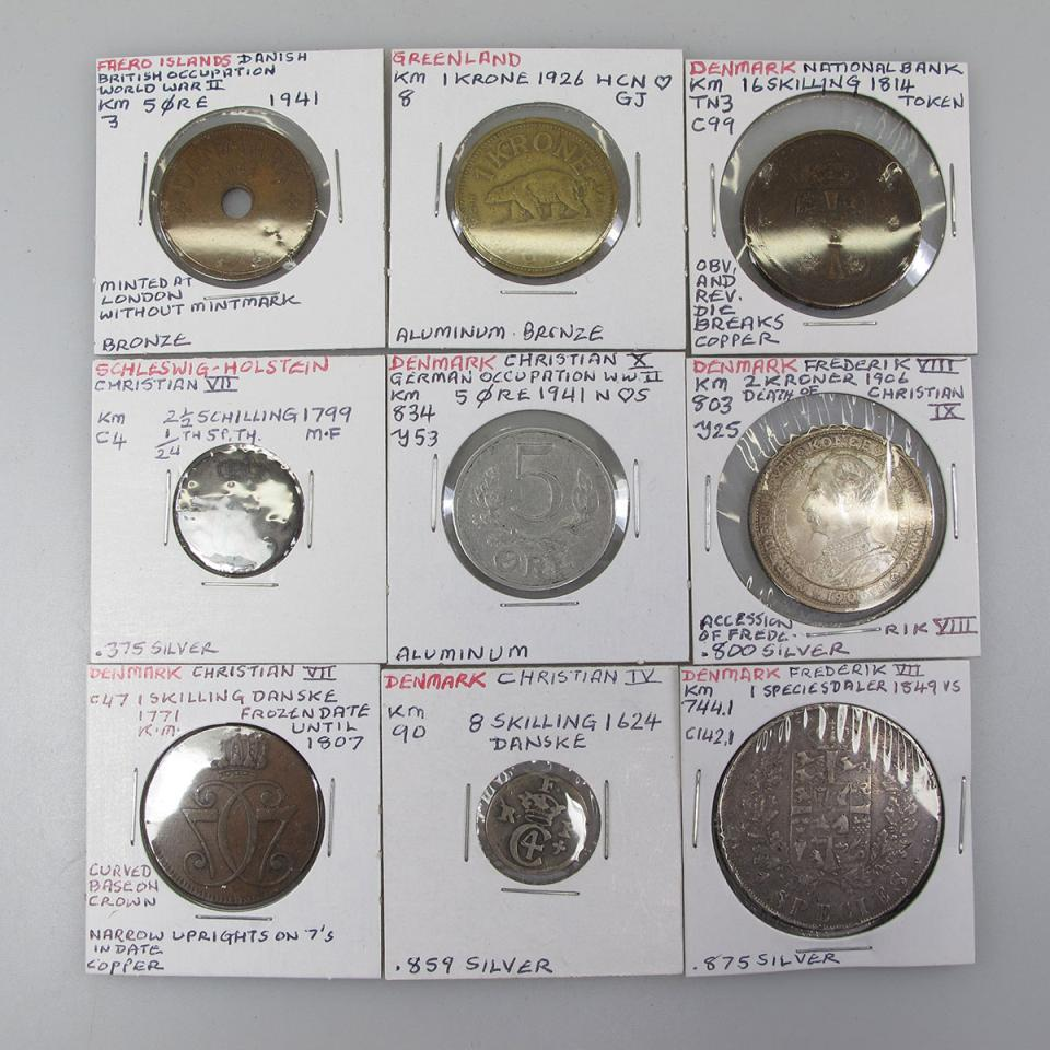 Quantity Of Danish Coins And Tokens