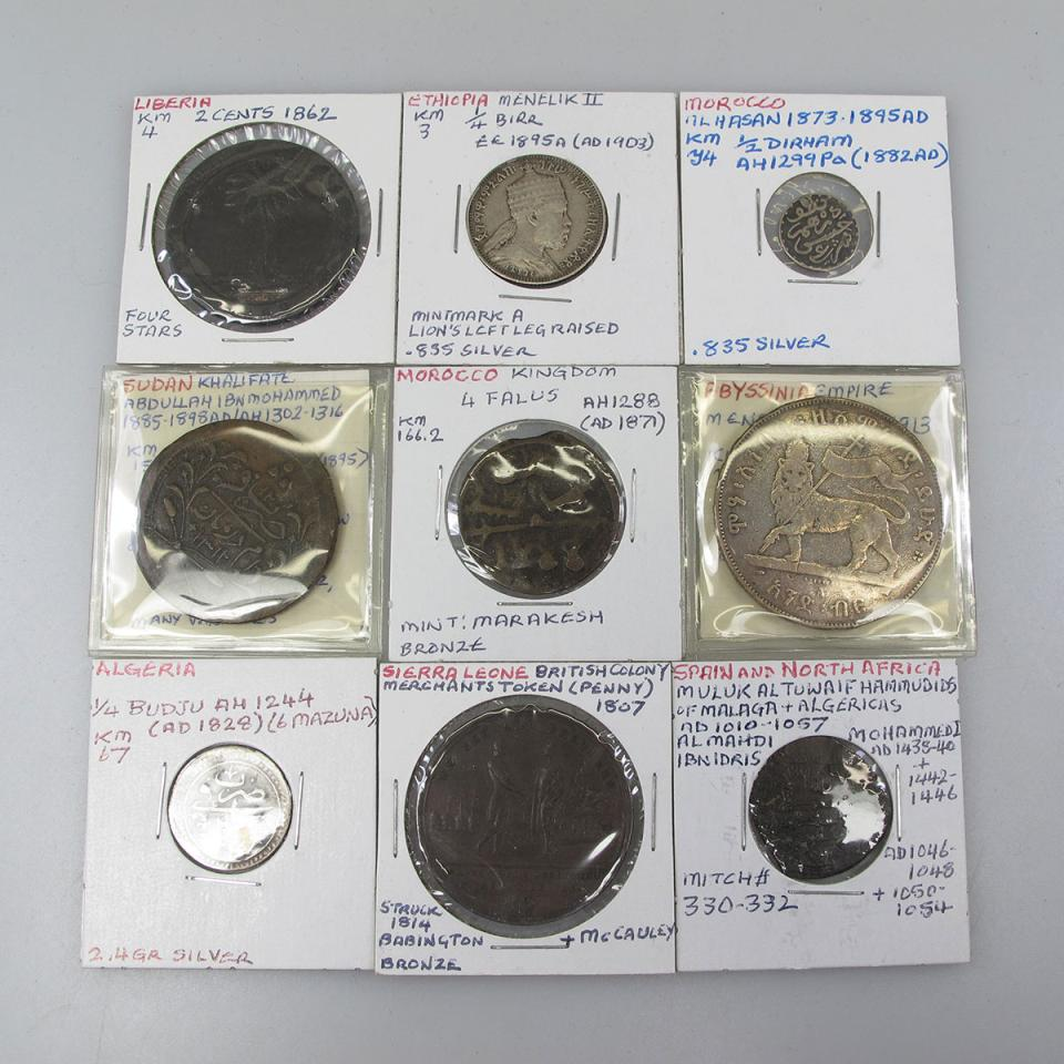 Quantity Of Coins, Medallions And Tokens From Various African Countries