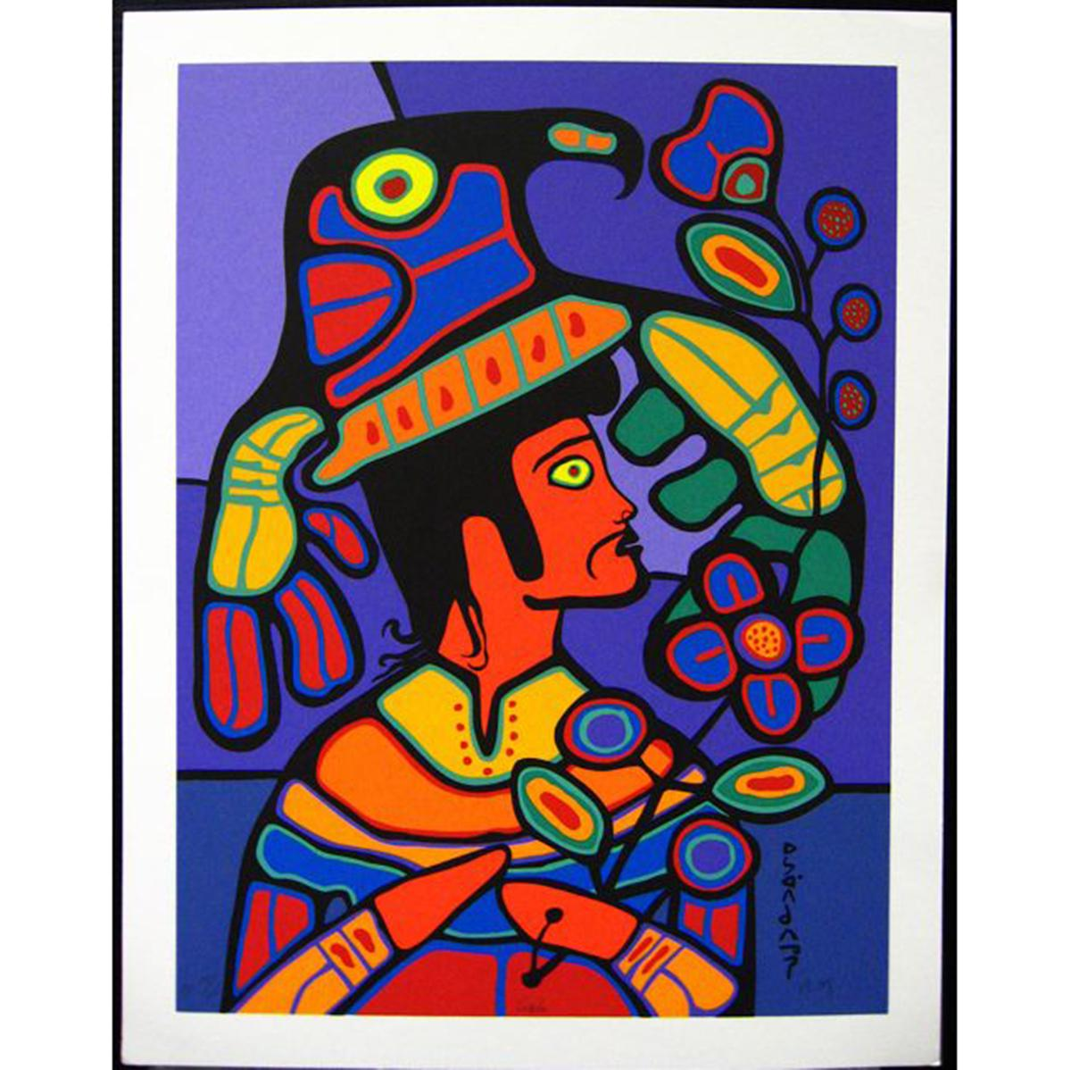 NORVAL MORRISSEAU (NATIVE CANADIAN, 1931-2007)