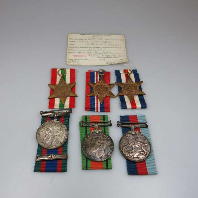 Set Of 6 WWII Medals
