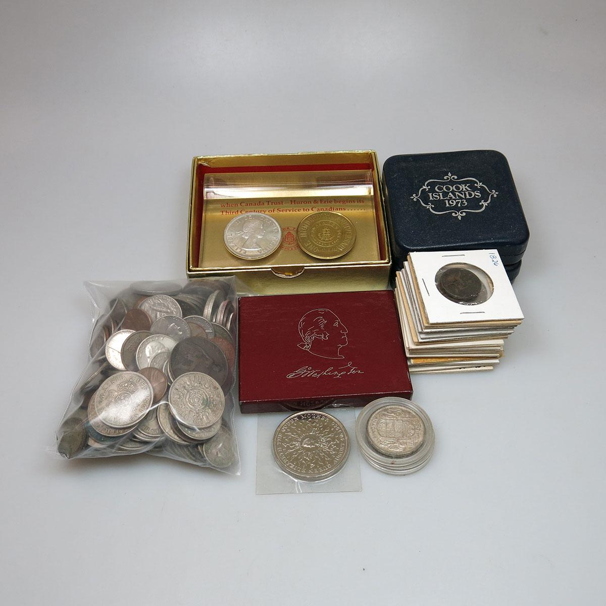 Small Quantity Of Foreign Coins, Canadian Mint Product, Etc