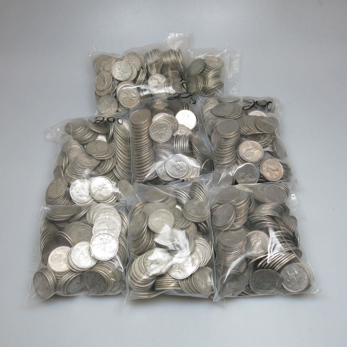 789 Silver Canadian Quarters