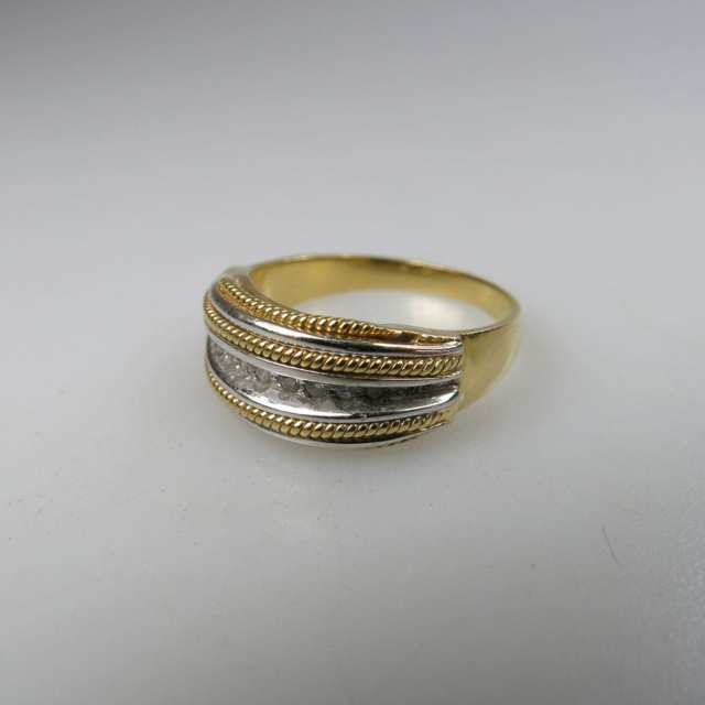 Italian 18k Yellow Gold And White Gold Ring