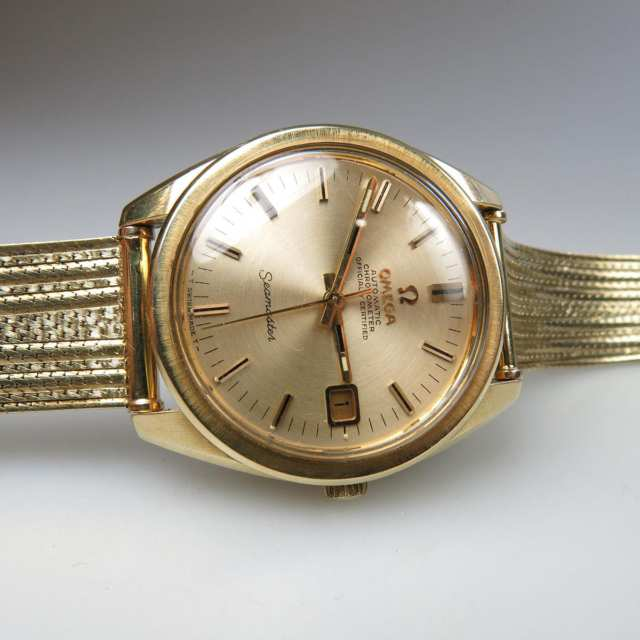 Men's Omega Automatic Chronometer SeaMaster Wristwatch With Date