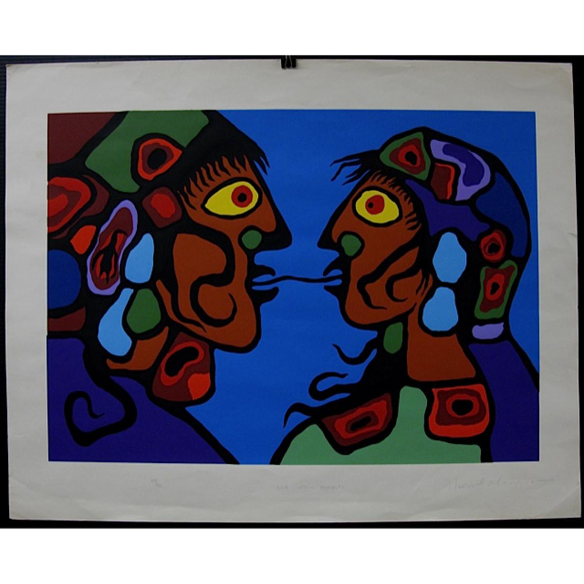 NORVAL MORRISSEAU (NATIVE CANADIAN, 1932-2007)