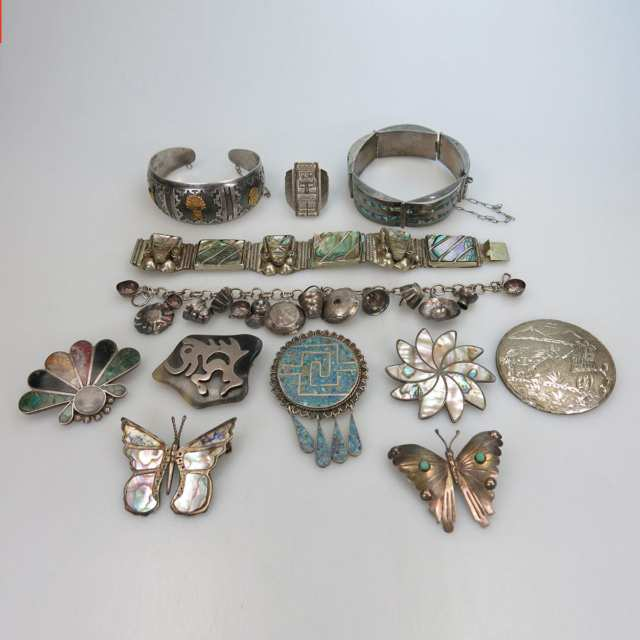 Small Quantity Of Mexican And Peruvian Silver Jewellery