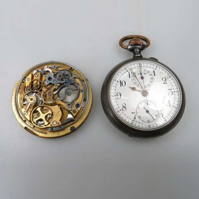 Openface Pocket Watch With Chronograph
