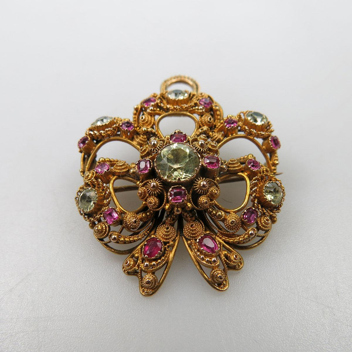 14k Yellow Gold Brooch/Pendant