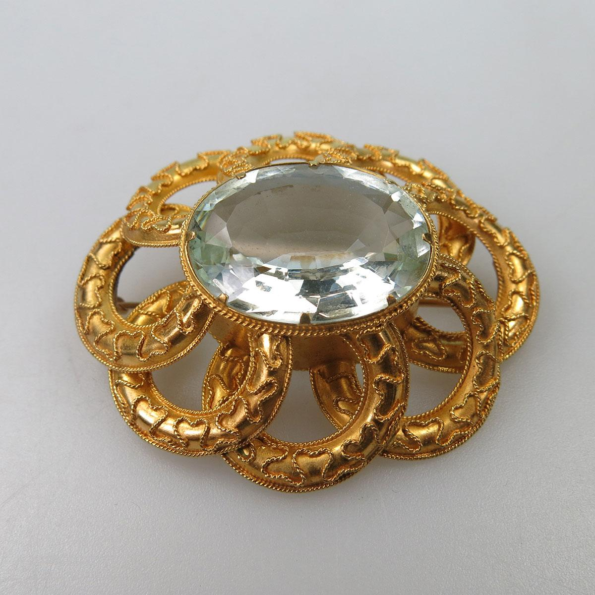 Victorian 18k Yellow Gold Brooch