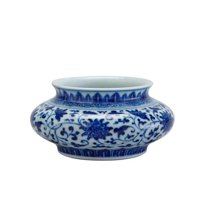 Small Blue and White Ming-Style Brushwasher