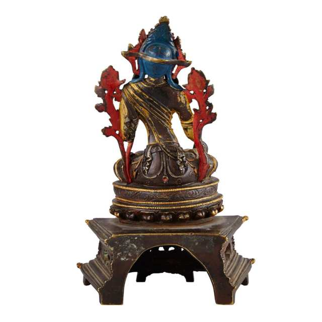 Bronze Pala Revival Seated Figure of Tara, Tibet, 16th/17th Century