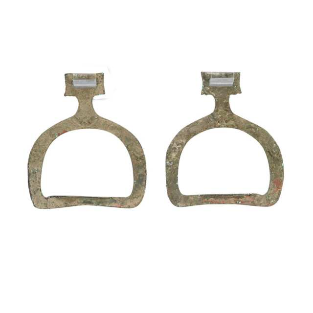 Pair of Bronze Stirrups, 3rd/4th Century AD